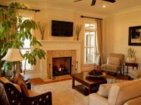 Гостиная с камином в частном доме — фото обзор интересных решений (55 идей)