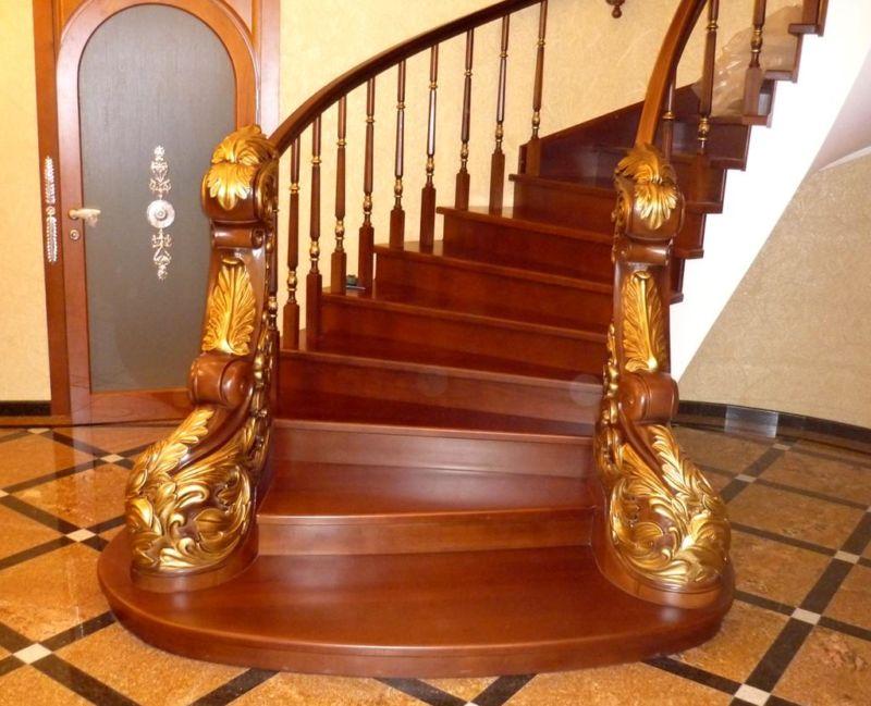 Лестницы из древесины23