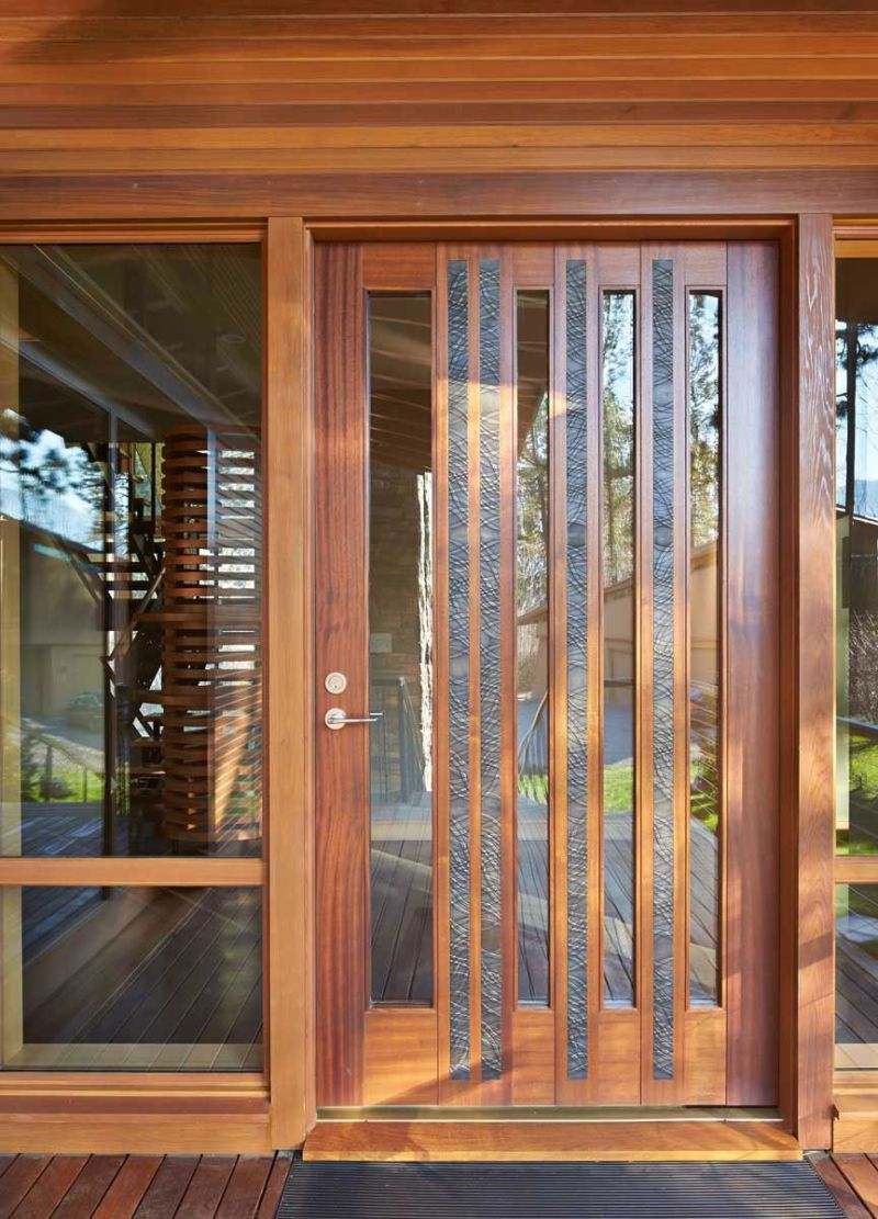 a-fascinating-wooden-door-with-glass-window-for-stunning-wooden-house