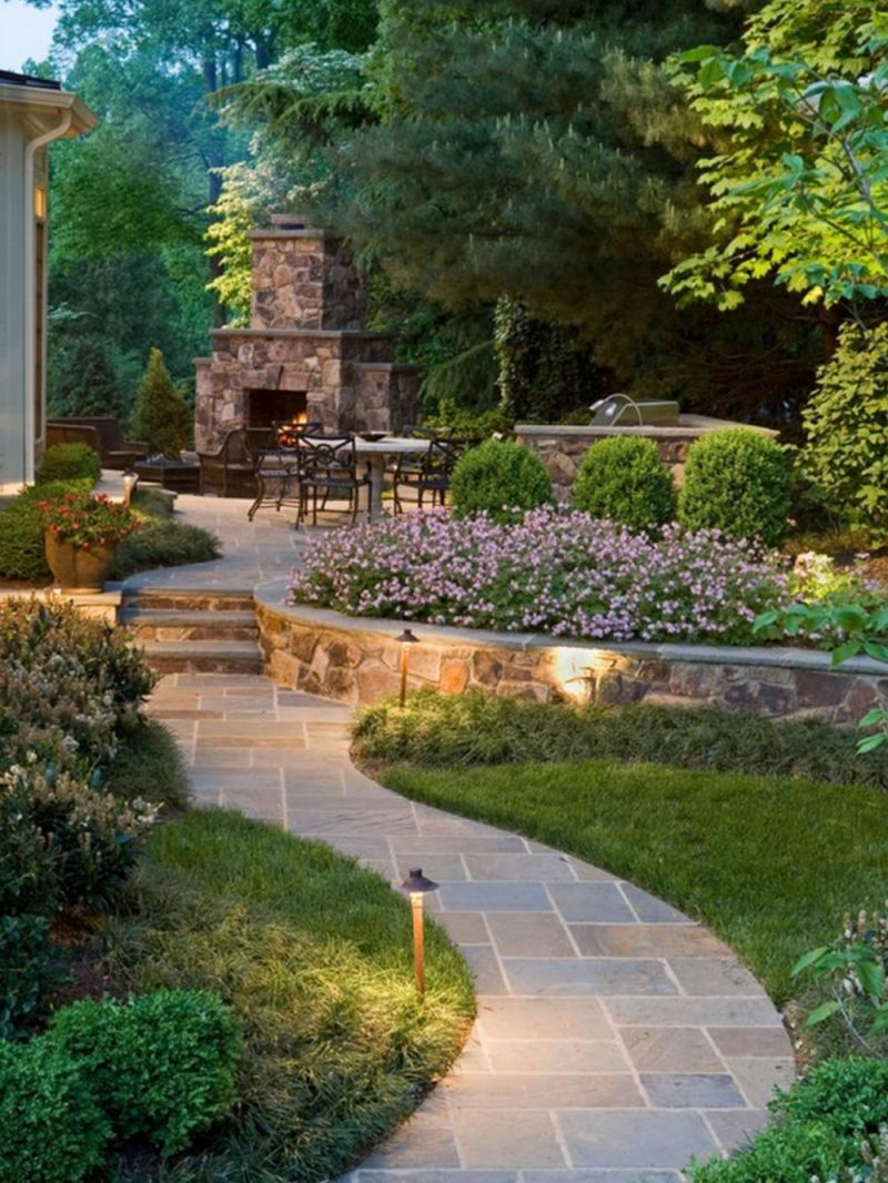 fabulous-retro-the-design-of-the-yard-of-a-private-house-with-extreior-design-with-fireplce-plus-stone-floor-then-garden-lighting-design-idea