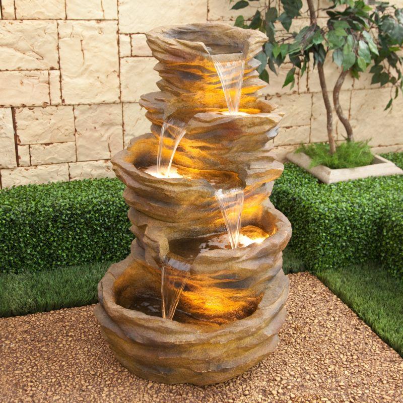 how-to-make-garden-on-floor-garden-qarmazi-throughout-decorative-water-fountain