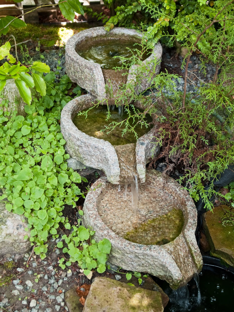 small-decorative-three-basin-waterfall-in-garden