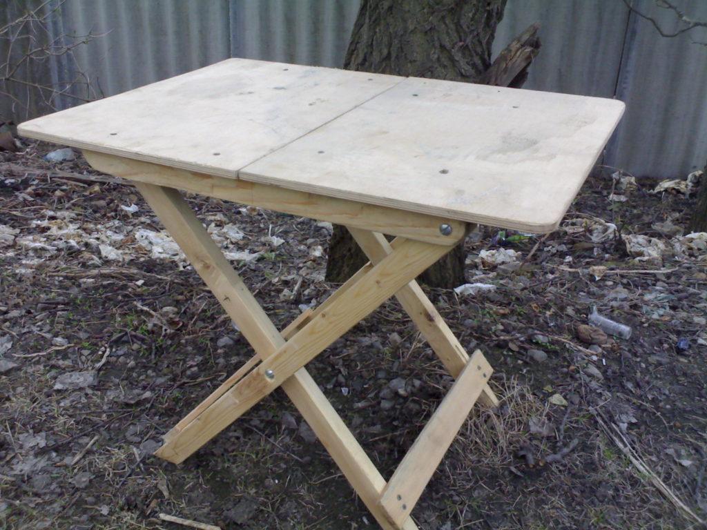 Складной столик сделать своими руками