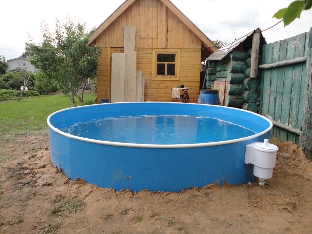 Бассейн для воды на даче своими руками 24