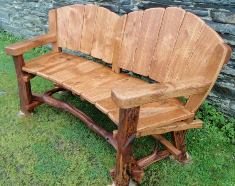 The benches for the garden