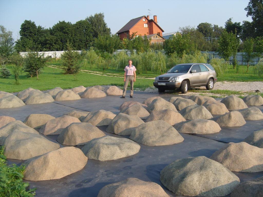 Декоративные камни для септиков и люков своими руками 360