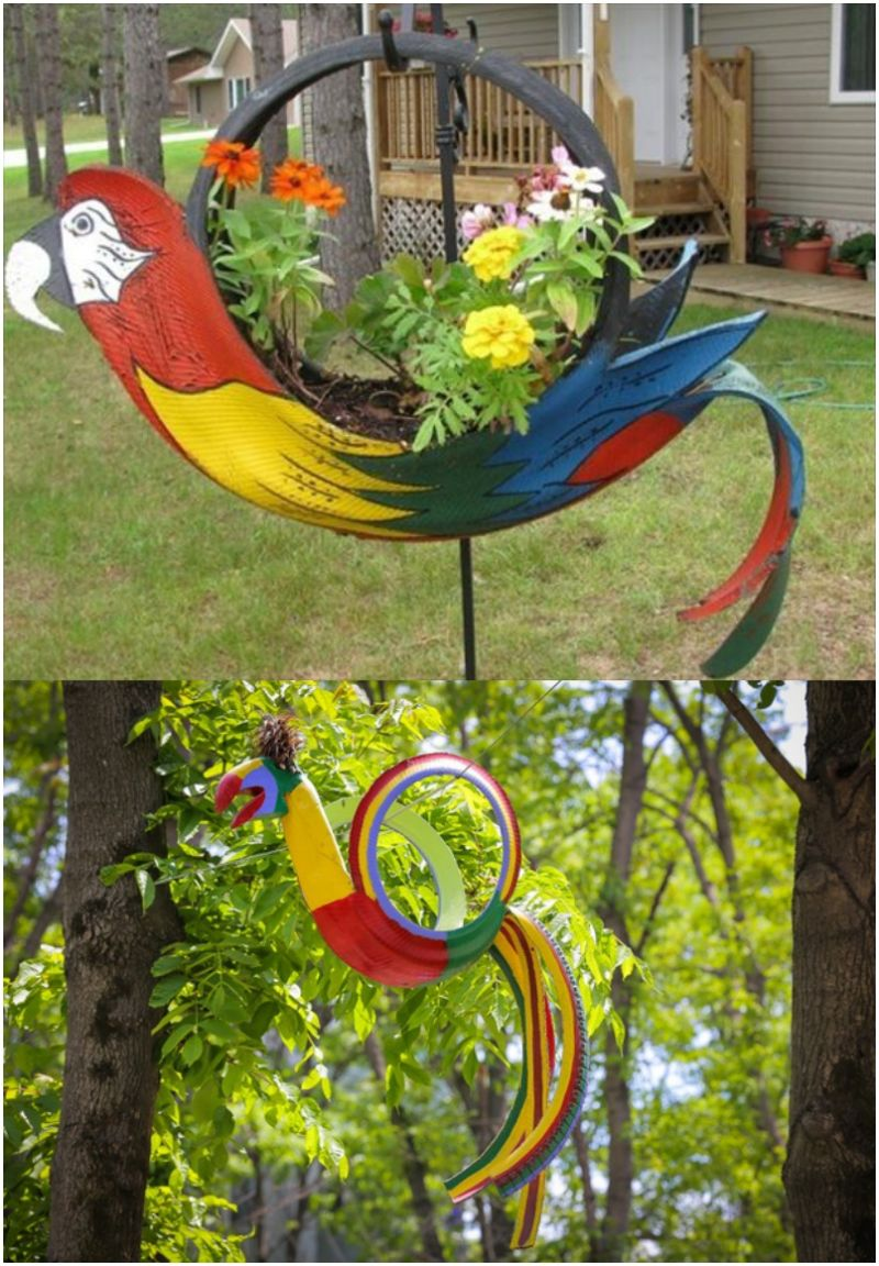 diy-tire-parrot-garden-planter-1