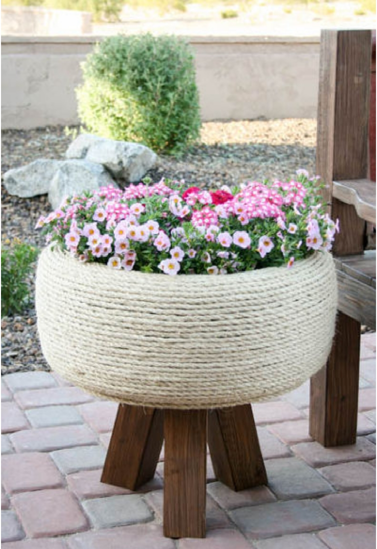 recycled-tire-turned-gorgeous-planter
