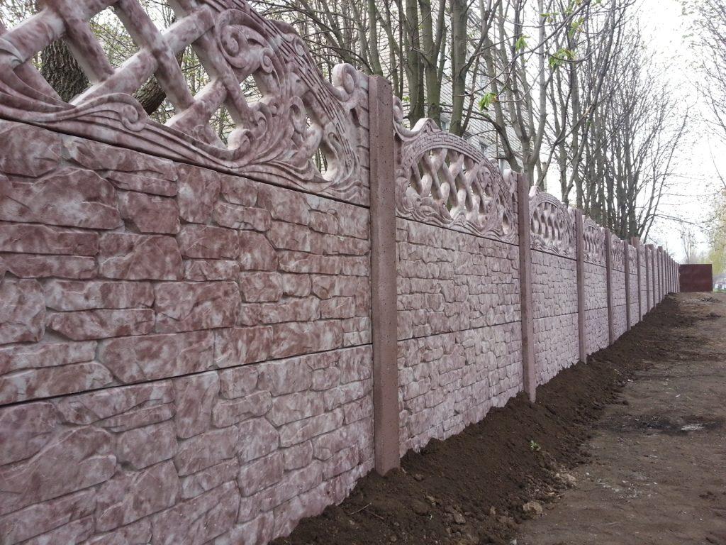 Как самим сделать бетонный забор 379