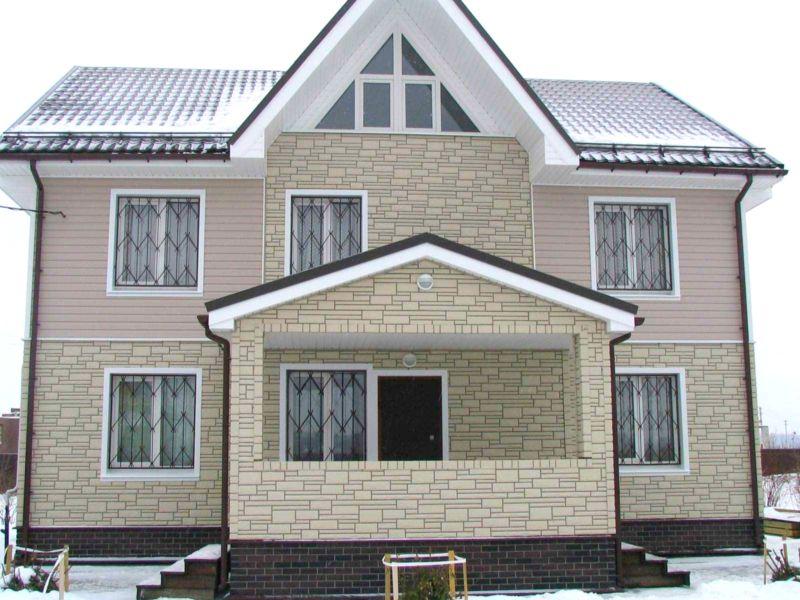 Zaključek fasade hiše z ometom
