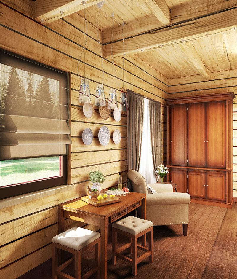 дизайн деревянных перегородок в деревянном доме