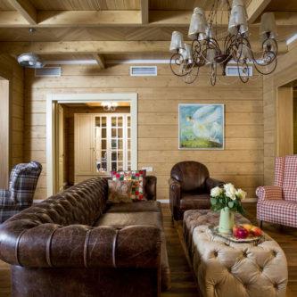 Интерьер деревянного дома — 75 фото разнообразных идей современного оформления