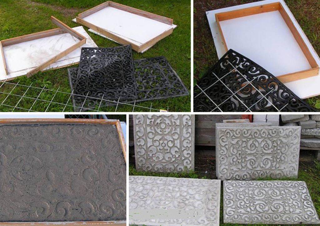 Сделать форму для тротуарной плитки в домашних