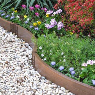 Бордюр для цветников — фото обзор красивых и современных вариантов