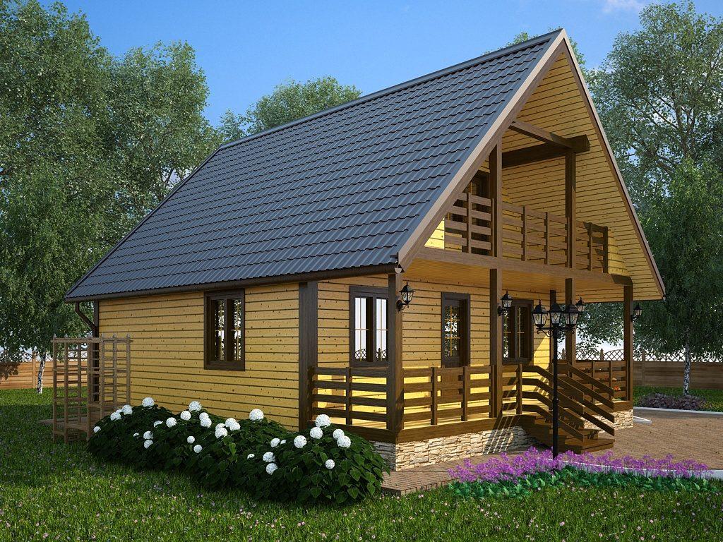 proekty-brusovyh-domov-8h10-s-mansardoy-chasto-imeyut-prostornuyu-terrasu-i-balkon