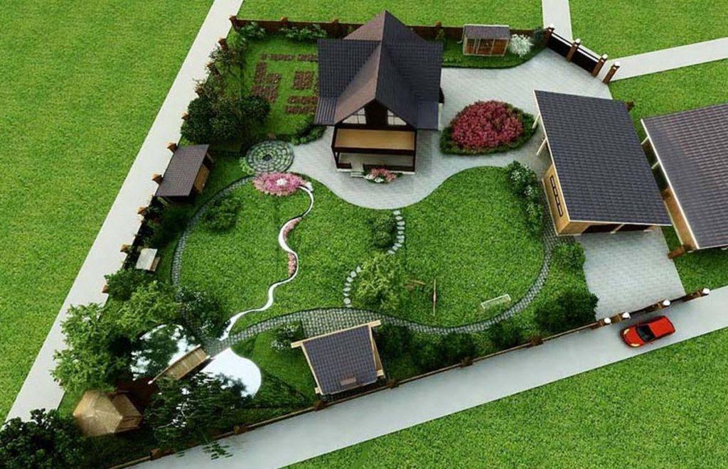 Дизайн маленького земельного участка