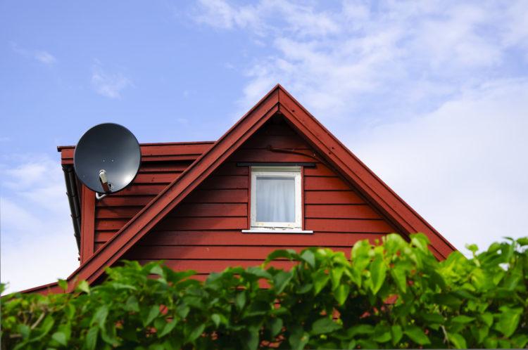 Norwey house with parabolic sat