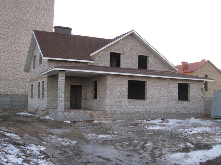 фото домов из шлакоблока