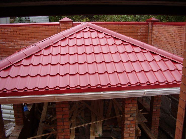 Металлочерепица своими руками вальмовая крыша 19