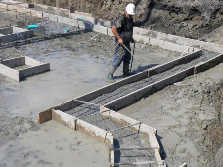 Возведение фундаментов в воде