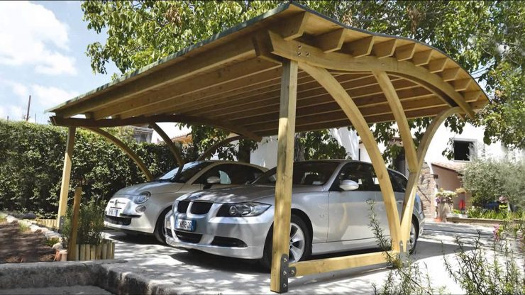 Навес для автомобиля на даче своими руками из дерева фото