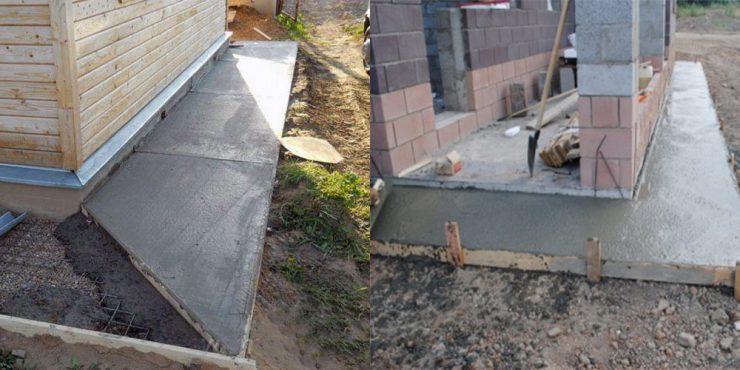 Как сделать бетон своими руками для отмостки 55