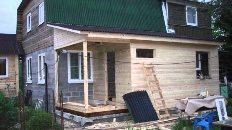 Фото пристройка из бруса к деревянному дому своими руками