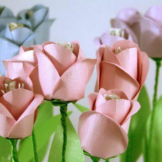 Тюльпан из бумаги (84 фото): подробная пошаговая инструкция по созданию бумажных цветов