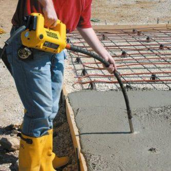 Вибрирование бетона: как укрепить армированную стяжку? 60 фото, методика работ, советы профессионалов