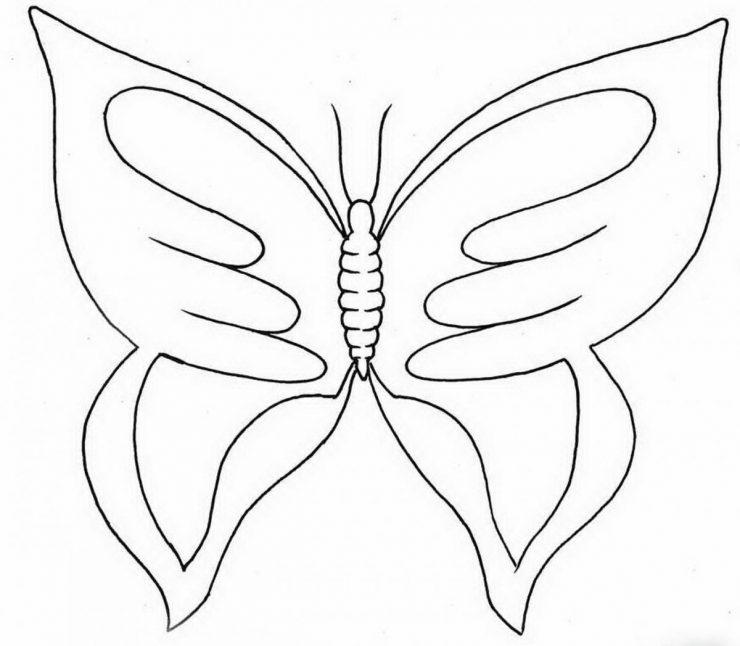 Как своими руками сделать бабочку нарисовать 54