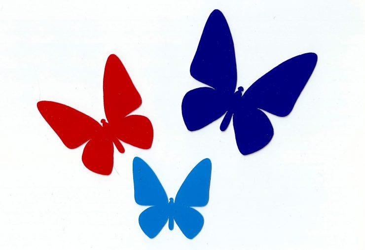 Трафареты для декора своими руками шаблоны бабочек для