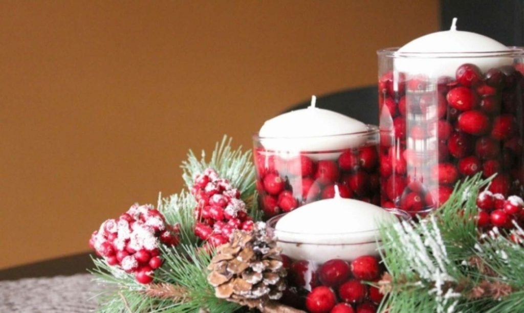 декор свечей на новый год