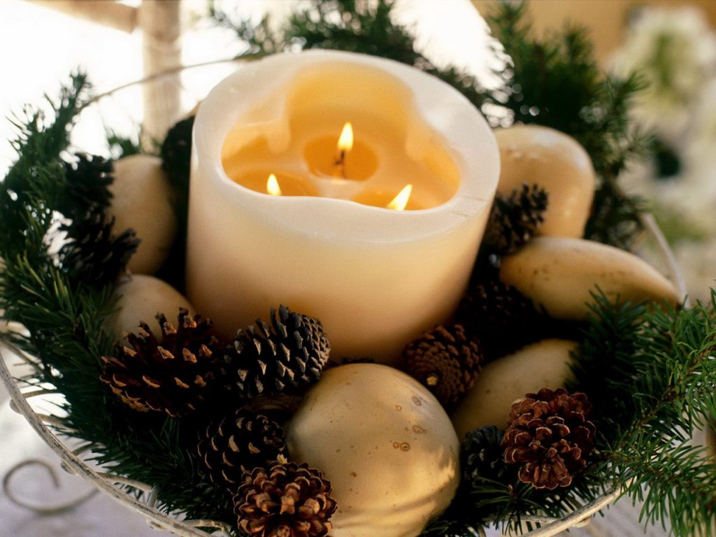 декор свечей своими руками
