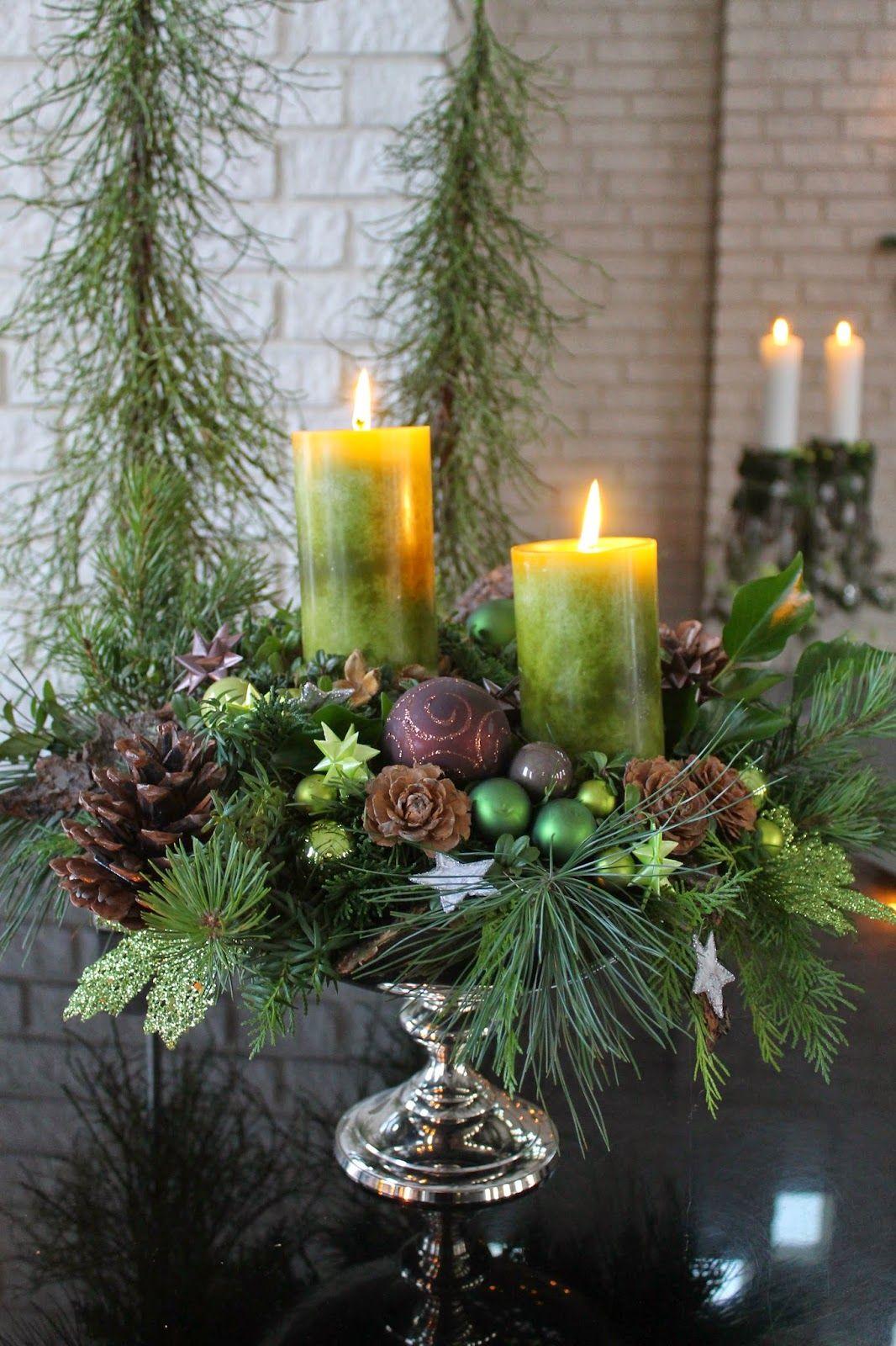 декор новогодних свечей своими руками