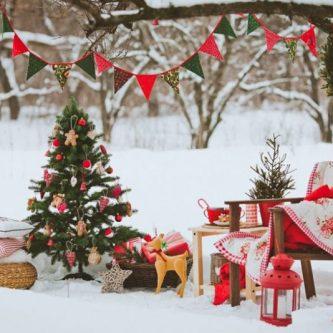 Новогодние украшения во дворе частного дома: оригинальные задумки и идеи