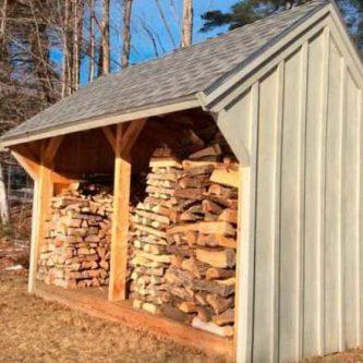 Как построить дровник на даче своими руками